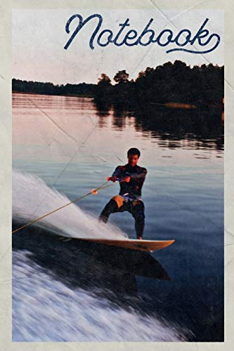 Notebook: Wakeboard Boots Handy Composition Book Journal Diary for Men, Women, Teen & Kids Vintage Retro Design for Notes on Wakeboarding Near London -