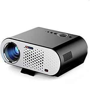 Vidéoprojecteur?Android WiFi Projecteur LED, Portable Multimédia 3200 Lumens Cinéma maison Cinéma PS Jeux Xbox Mini projecteur sans fil WIFI Vidéo Full HD 1080p avec USB HDMI AV SD VGA TV