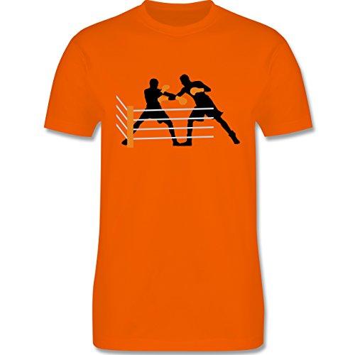 Kampfsport - Boxer im Ring - Herren Premium T-Shirt Orange