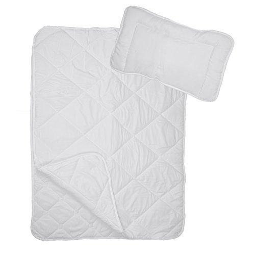 Premium 4-Jahreszeiten Steppbett Kinder Bettdecke | Mikrofaser Baby-Steppdecke 100 x 135 cm im Set mit 1x Kopfkissen 40 x 60 cm