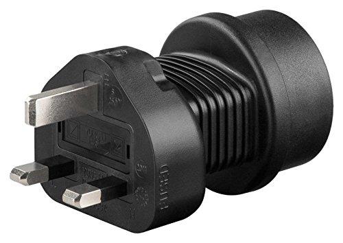 adaptare 50001 Reise-Adapter Gerät mit Schuko-/Euro-Stecker an 3-polig UK-Steckdose Typ G -
