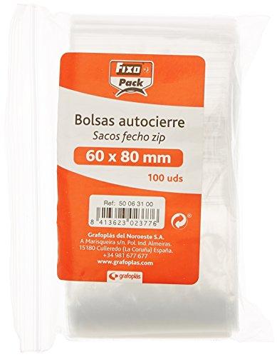 Fixo Pack 50063100-Pack de 100 bolsas autocierre