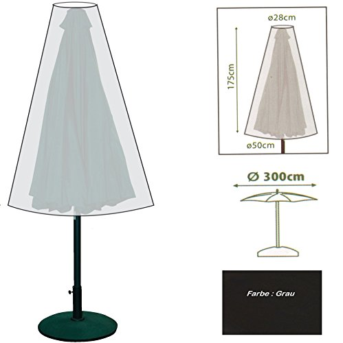 K7plus® Sonnenschirm Schutzhülle Sonnenschirmhülle Abdeckung für Sonnenschirme bis 300 cm Ø - auch für Wäschespinnen