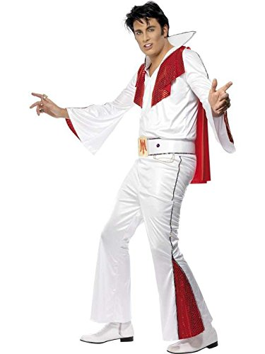 elvis Costume, Red and White-Size ()