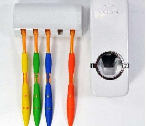 Thermal Dispenser (Automatischer Zahnpastaspender und Zahnputzbecher Set, weiß)