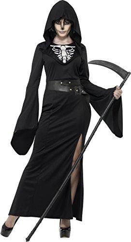 Smiffy's 45203S - Damen Sensenfrau Kostüm, Kleid und Gürtel, Größe: 36-38, (Kostüme Einfache)
