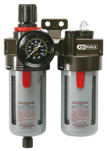 """KS Tools 515.3355 Unité de maintenance à air comprimé 1/4"""", 0,5-12"""""""