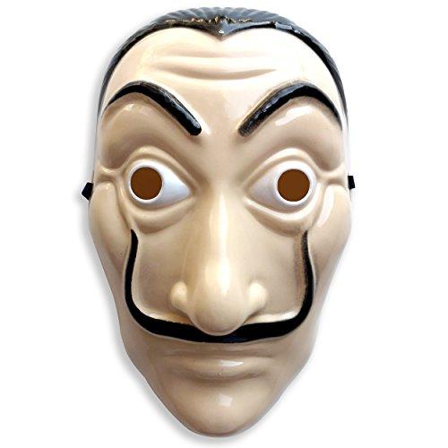 Haus des Geldes Maske ideal für Casa de Papel Kostüm für Gesicht, Dali Maske