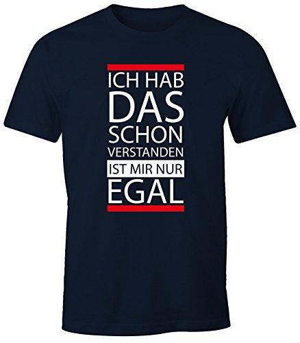 Lustig Navy T-shirts (lustiges Herren T-Shirt - Ich hab das schon verstanden, ist mir nur egal - Fun-Shirt MoonWorks® navy S)