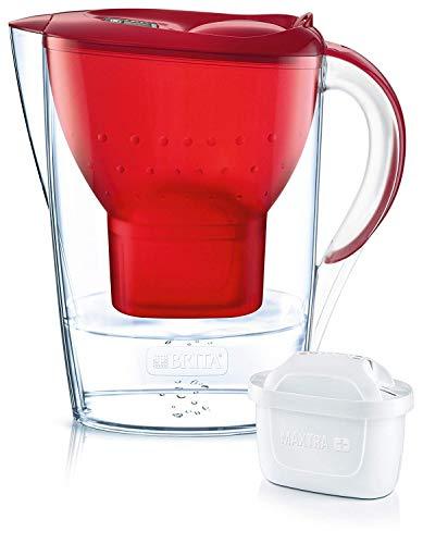 Brita Wasserfilter Marella, inkl. 1 Maxtra+ Filterkartusche rot