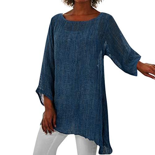Blumendruck Strand Lose Bluse Frauen Plus Size Langarm Leinen Baggy Bluse Shirt Damen Sommer Tunika Tops -