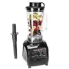 Ultratec Mixeur 2 litres – Mixeur haute performance avec une puissance de 1 500 watts ou 2 CV – 32 000 tr/min, livre de recettes pour smoothies inclus, mixeur, appareil à smoothies, hachoir