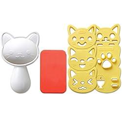 ounona gato forma molde arroz onigiri eléctrica molde 3d bola de arroz molde sushi huevo Chocolate molde herramienta de bricolaje de cocina Set