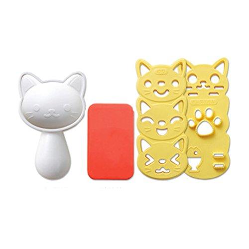 Ounona gato forma molde arroz onigiri eléctrica molde