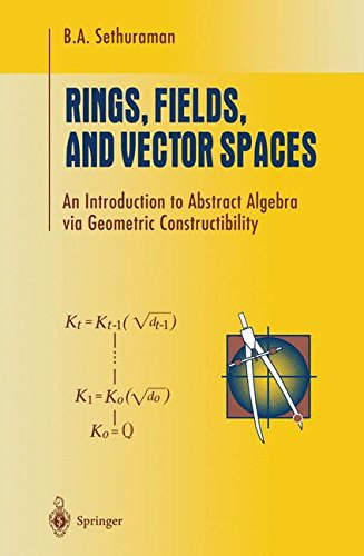 Rings, Fields, and Vector Spaces: An Introduction to Abstract Algebra Via Geometric Constructibility