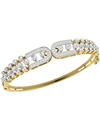 TBZ - The Original 18k Yellow Gold and Diamond Bangle