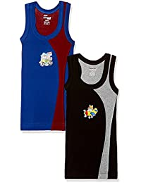 Rupa Frontline Kids Boys Cotton Vest (Pack of 2) (Colors may vary)