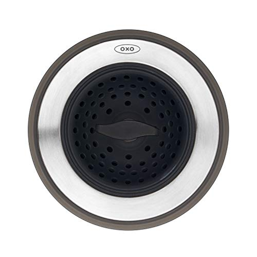 OXO 13259500 Good Grips 2-in-1 Abflusssieb, schwarz Oxo Good Grips Sink