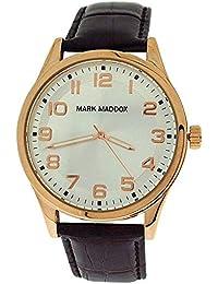 Mark Maddox Gents Silvertone Dial   Brown Croc Effect Strap Watch HC3005-95 2a754ca5d333