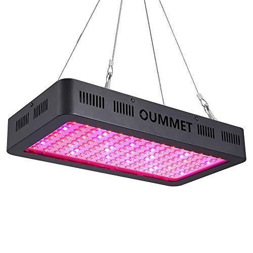 OUMMET Lampe de Plante 1500W, Lampe de Croissance l'éclairage de Horticole Panneau,équipée de 150 LEDs avec IR UV Lumière,Parfait pour Plantes,Fleurs,et Légumes Intérieur.