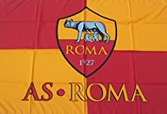 Idea Regalo - BANDIERA AS ROMA UFFICIALE MAGICA grande cm.100x140 FLAG OFFICIAL