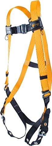 Miller Titan by Honeywell T4500/S/MAK Non-Stretch Harness with Tongue Buckle Legs, Small/Medium by Honeywell