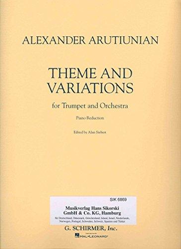 ARUTIUNIAN A. - Tema y Variaciones para Trompeta y Piano
