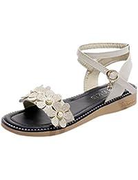 S H-NEEDRA Mode Frauen Sandalen Sommer Böhmen Schuhe Wedges Weave Middle  Heel Sandalen db000b5449