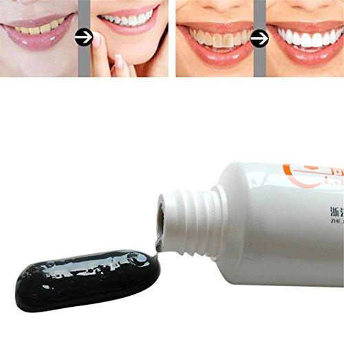 mbus Holzkohle Schwarze Zahnpasta Zähne Whitening Reinigung Hygiene Mundpflege (Zahn Schwarz Make Up)