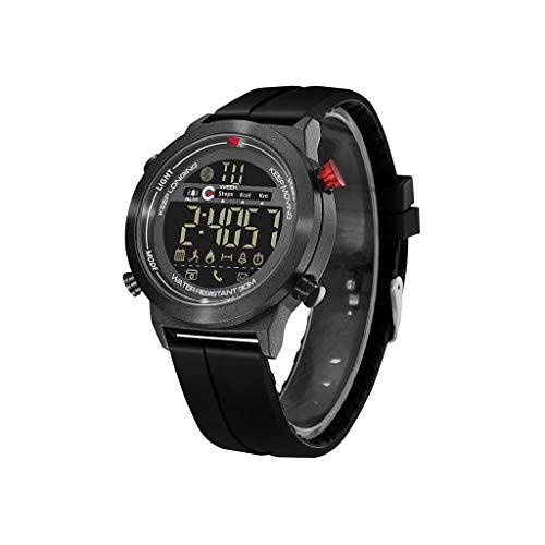 DingLong Silikon Wasserdicht Smartwatch Sportuhr,Atmungsaktiv Leicht Fitness Armband Intelligente Tracker Aktivitäts Uhr Armbanduhr für Android iOS (Schwarz) - 4x4 Tracker
