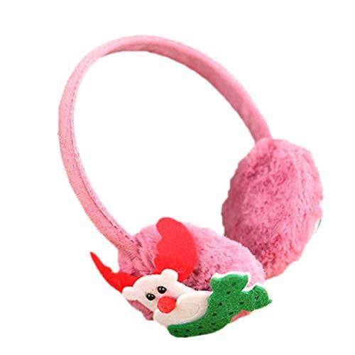 HEALIFTY Ohrenwärmer Stirnband Ohrenschützer Weihnachts-Hirsch Ohrenschützer Fell Ohrwärmer Winter Ohrenschützer Weihnachten Kostüm Zubehör Kopfbedeckung für Kinder (lila)