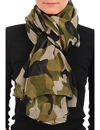 Camouflage Unisex Scarf & Beach Sarong - Green Designer Scarf