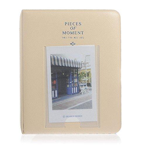 StillCool FotoAlbum Fujifilm Instax Mini Fotobuch Fotohüllen erstellen Speziell Für Fujifilm Instax Miini Film 7S/8/25/50/90, 14*11cm, 64 Seiten,Rosa, blau, beige (beige)