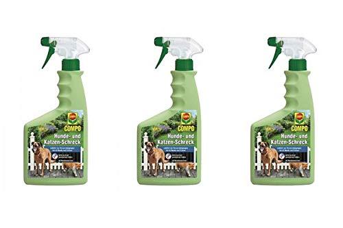 3x Compo Hunde - und Katzen Schreck 500 ml - Flüssiges Fernhaltemittel - Überdeckt vorhandene Duftmarken