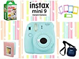 #1: Fujifilm Instax Mini 9 Joy Box with Instant Camera (Ice Blue)