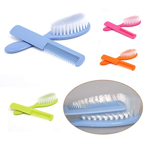 Zhangyo 2Pcs Baby Safety Soft Hair Brush Set Paquete