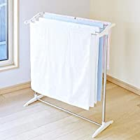 Belanto Stainless Steel Foldable Cloth Dryer Stand Double Rack Cloth Stands for Drying Clothes,Multi-Functional Mobile…