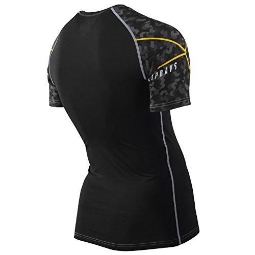 Zipravs Herren Damen Unterwäsche Kompressionshirt Compression Short Sleeve ZCSS-109