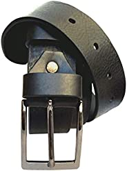 ELETTI Cintura Uomo In VERA PELLE 100% MADE IN ITALY Marrone Nera Rossa Elegante Casual Resistente Idea Regalo