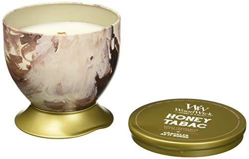 Woodwick Redken Candela profumata Artisan Honey Tabac lattina 241G