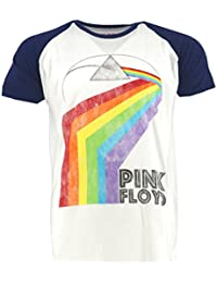 Pink Floyd Prism Arch White Raglan T-Shirt Official Licensed Music