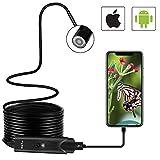 Endoskop CLY Endoskop USB kamera Endoskop Iphone/Android 2,0 Megapixel CMOS HD Inspektionskamera ⌀5,5mm Innenbatterie 2000mAh IP67 Wasserdichtes Sanitär Schlange Kamera mit 6 LEDs für IOS Android