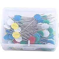 100Pcs Herramientas remiendo botones Cabeza de flor Contactos de costura aguja de tejer Contactos de costura que acolcha Accesorios arte de DIY ( Color : 1# Flower 1 )