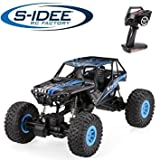 s-idee® 18100 1/10 Rock Crawler 10428-D mit 2,4 GHz 4WD Buggy Monstertruck Vollproportional