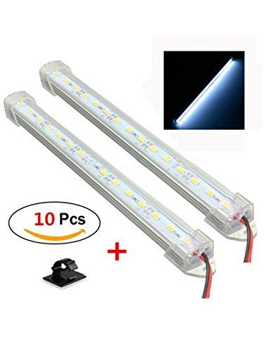 Rise Long 2pcs 12 V LED Innen Camper Caravan Van Lights Bar 40 cm für Auto Boot Home Office mit Kabel-Clips