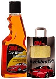 3M Combo of Microfiber Cloth and Car Shampoo (250 ml)