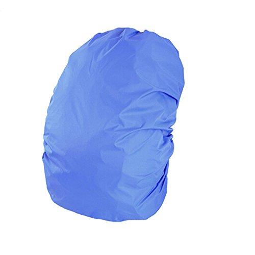 35L capacità durevole campeggio escursionismo zaino zaino scuola borsa sacchetto antipioggia impermeabile copertina blu Blu