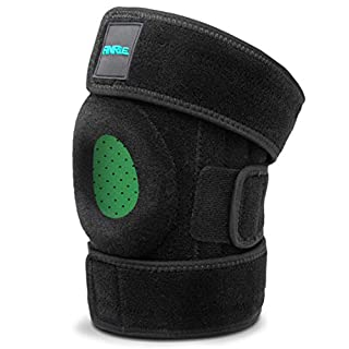 ANRi.e. Knee Brace Support Meniscus Tear Arthritis ACL MCL LCL PCL Running Jumping Fitness Hiking - Best Adjustable Patella Stabilizer Knee Braces Women Men Velcro (Black, One Size (12.3