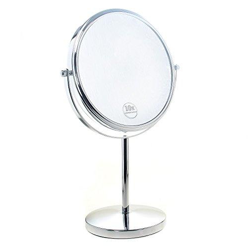 TUKA Standspiegel 7 fach Vergrößerung, 8 inch Kosmetikspiegel 360° drehbar. Verchromten...