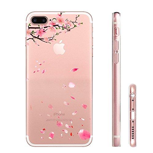 IPHONE 7 Hülle Meerjungfrau Ananas Liebe Muster TPU Silikon Schutzhülle Handyhülle Case - Klar Transparent Durchsichtig Clear Case für iPhone 7 TH1